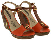 Womens Wedge High Heel Platform Strappy Sandals Thumbnail 8