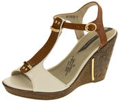 Womens Wedge High Heel Platform Strappy Sandals Thumbnail 9