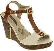 Womens Wedge High Heel Platform Strappy Sandals Thumbnail 10