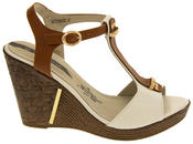 Womens Wedge High Heel Platform Strappy Sandals Thumbnail 11