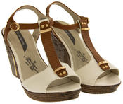 Womens Wedge High Heel Platform Strappy Sandals Thumbnail 12