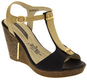 Womens Wedge High Heel Platform Strappy Sandals Thumbnail 2