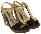 Womens Wedge High Heel Platform Strappy Sandals Thumbnail 4
