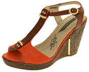 Womens Wedge High Heel Platform Strappy Sandals Thumbnail 5