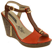 Womens Wedge High Heel Platform Strappy Sandals Thumbnail 6