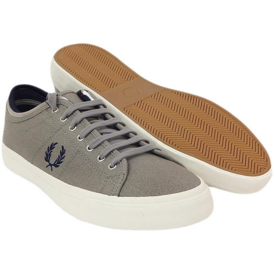 Fred Perry Trainer Canvas Footwear Grey Thumbnail 1
