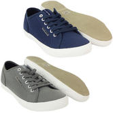Voi Plain Lace Up Canvas Trainer Footwear Pump 6 7 8 9 10 11