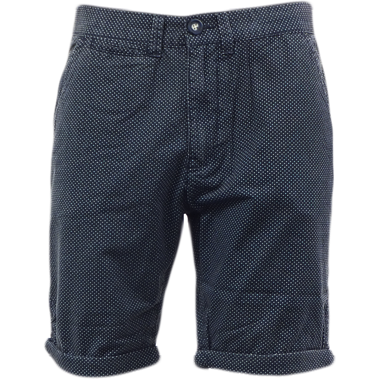 Brave Soul Polka Dot Short Navy