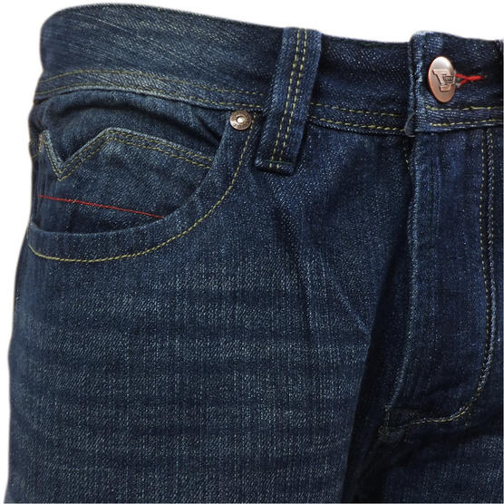 D555 Mens Straight Jean Relaxed Fit Denim Trouser Pant 'Rinaldo' Vintage Indigo Thumbnail 5