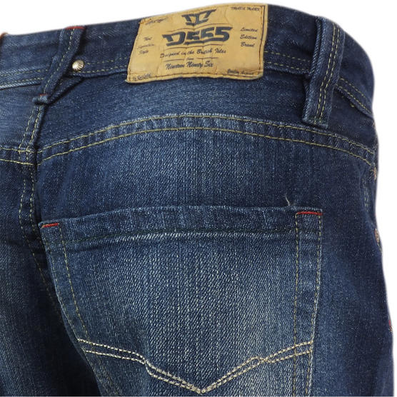 D555 Mens Straight Jean Relaxed Fit Denim Trouser Pant 'Rinaldo' Vintage Indigo Thumbnail 6