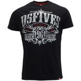 D555 Mens Short Sleeve T-Shirt 'Ames' Black M L XL XXL