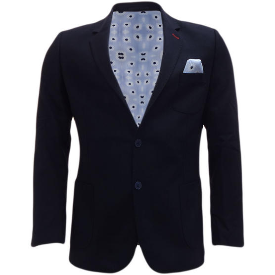 Bewley Ritch Suit Jacket Blazer Coat Smart Navy with Pocket Square Thumbnail 1