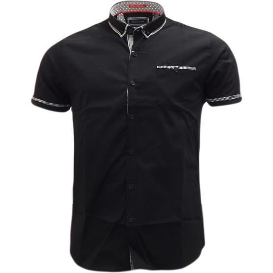 Brave Soul Short Sleeve Shirt Plain Retro Collar Shirts Colvin Thumbnail 2