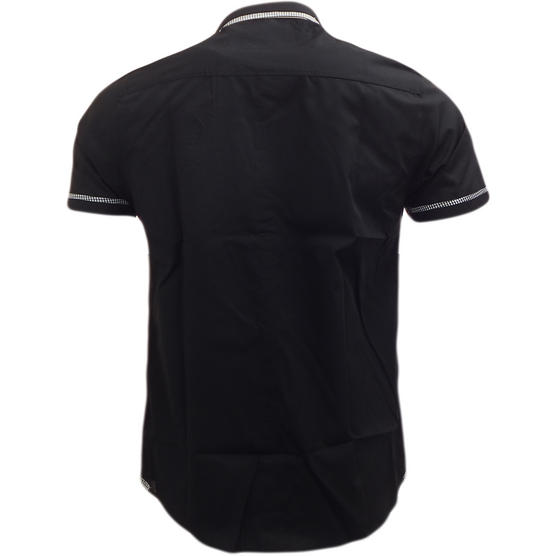 Brave Soul Short Sleeve Shirt Plain Retro Collar Shirts Colvin Thumbnail 3