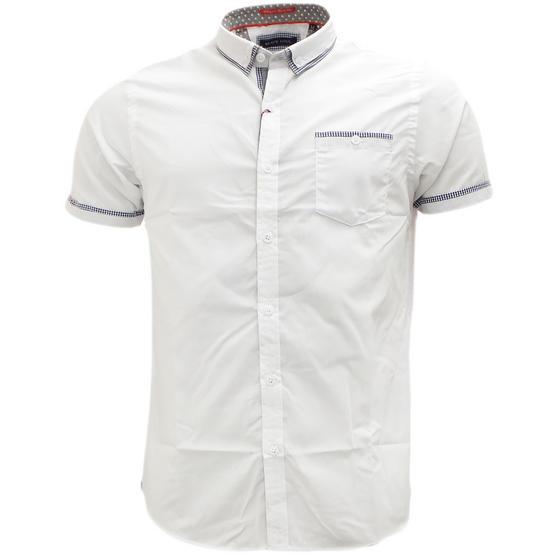 Brave Soul Short Sleeve Shirt Plain Retro Collar Shirts Colvin Thumbnail 6