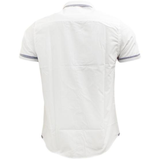 Brave Soul Short Sleeve Shirt Plain Retro Collar Shirts Colvin Thumbnail 7