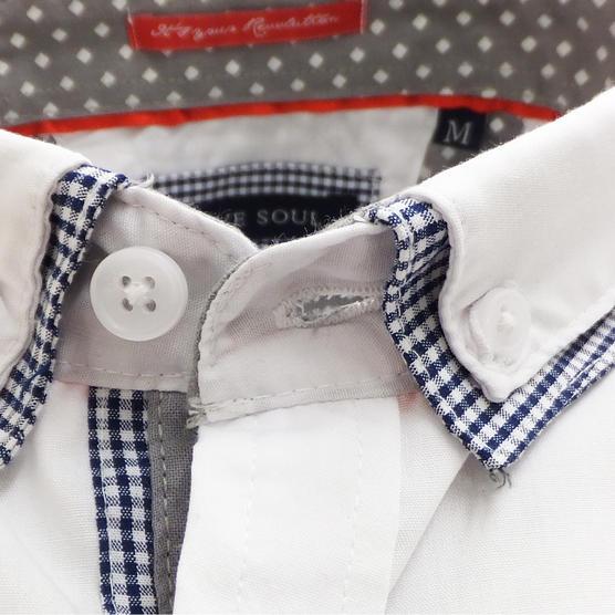 Brave Soul Short Sleeve Shirt Plain Retro Collar Shirts Colvin Thumbnail 8