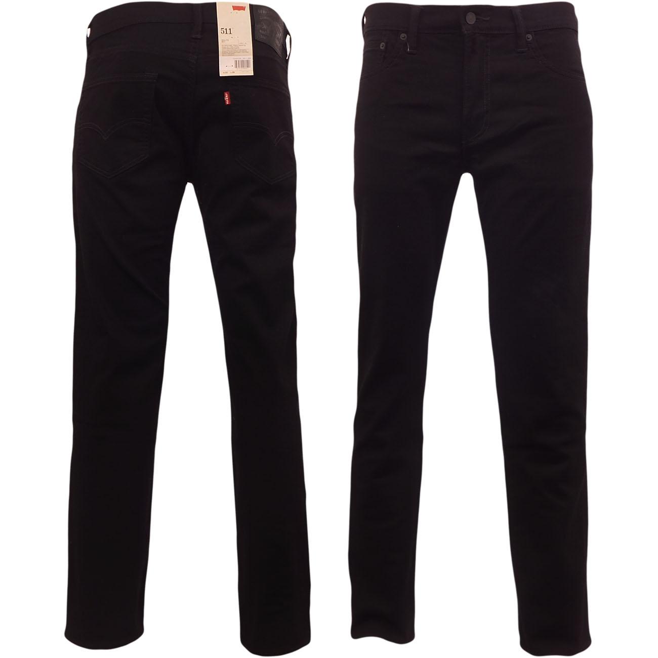 d6148c130b6b Details about Levi's 511 Jeans Original Levi Strauss Slim Fit Black Waist  30 32 34 36