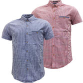 Threadbare Short Sleeve Gingham Check Shirt 'Bakerloo'