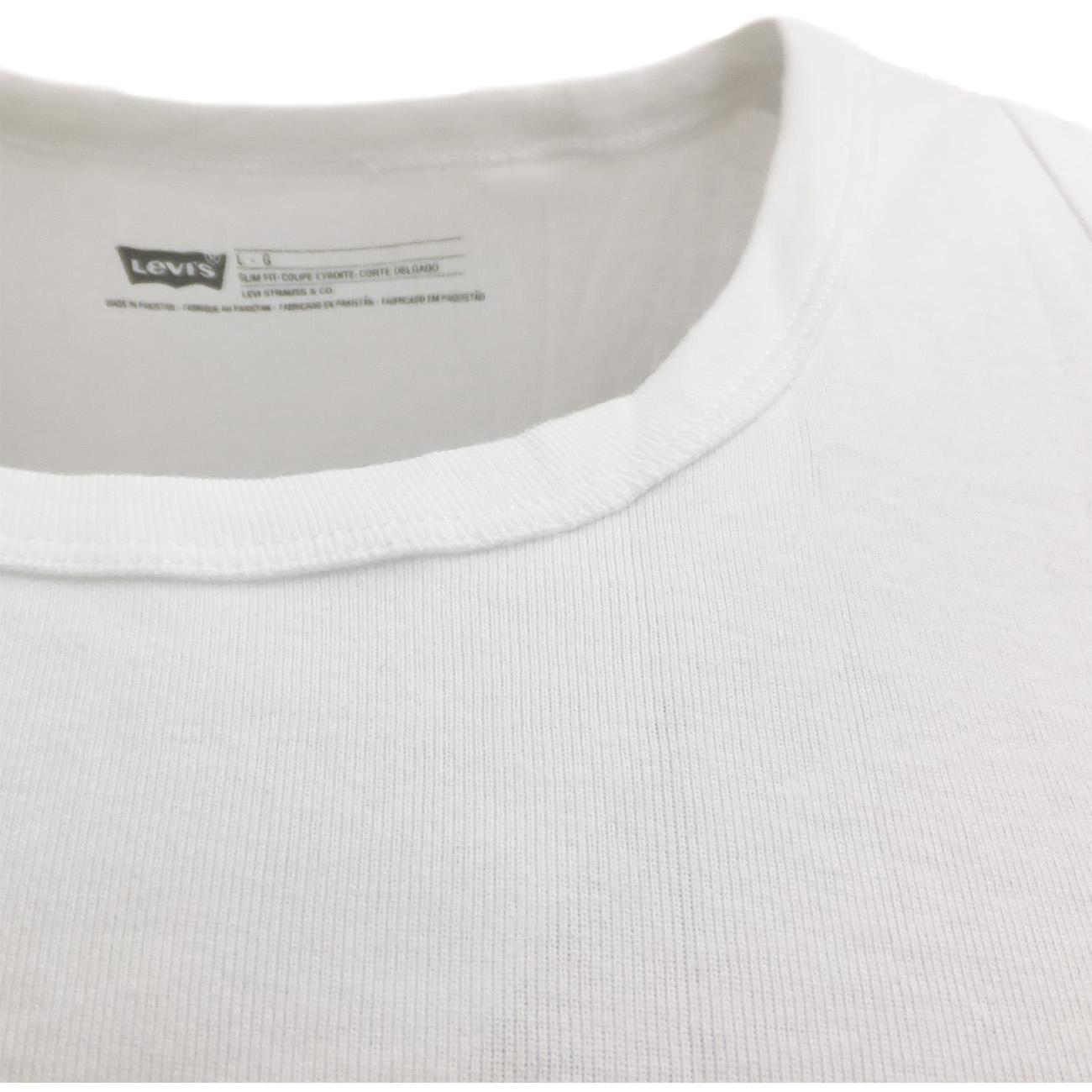 Levi strauss plain vest pack of 2 slim fit t shirts for Levis plain t shirts