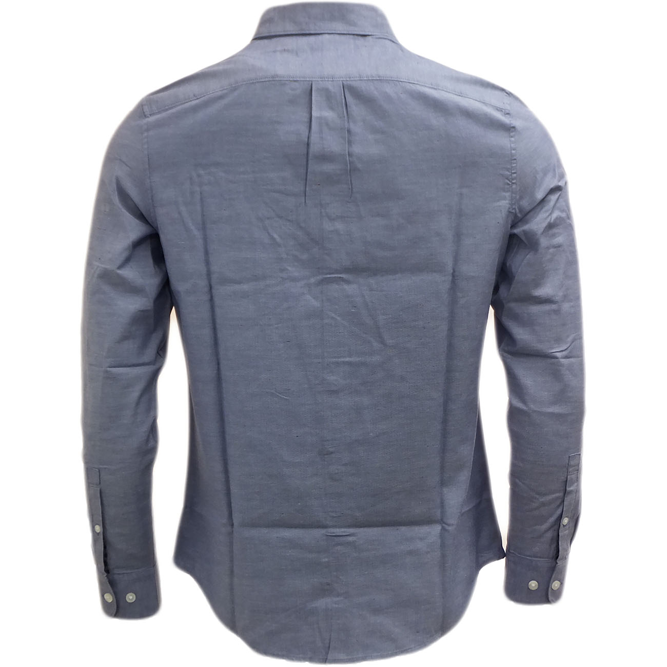 Original penguin long sleeve fleck pattern shirt chambray for Long sleeve shirt pattern