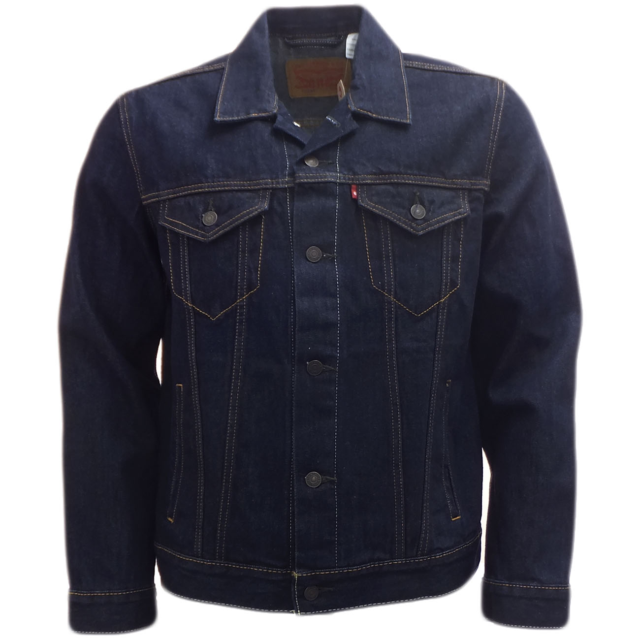 Mens Jean Jacket Levi Strauss Denim Coat Dark Indigo Blue Indigo Ebay