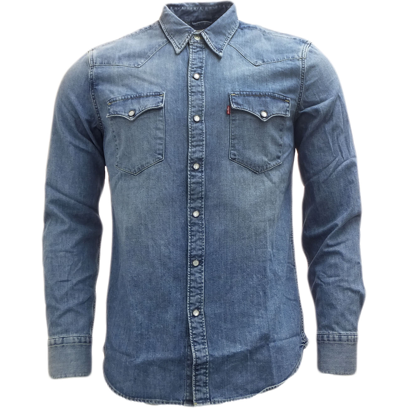 089ec343bad9ae Sentinel Mens Shirts Levi Strauss Long Sleeve Denim Shirt