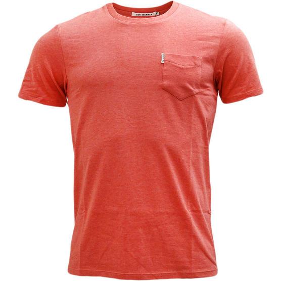 Mens T-Shirts Ben Sherman Plain T Shirt Top Pocket Lightweight Thumbnail 2