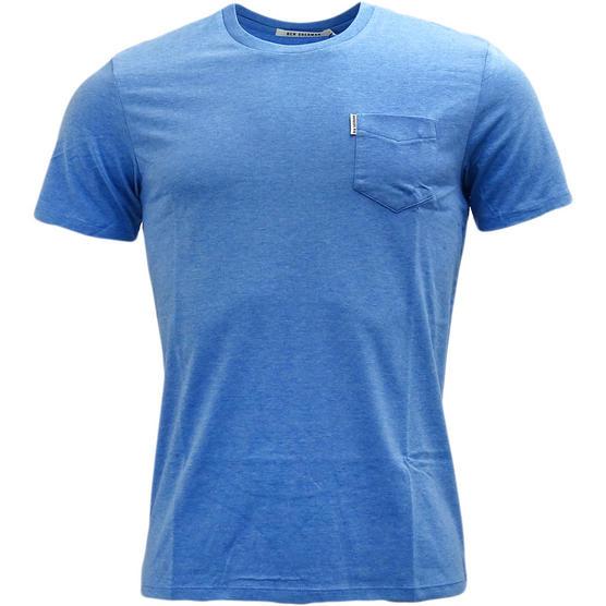 Mens T-Shirts Ben Sherman Plain T Shirt Top Pocket Lightweight Thumbnail 4