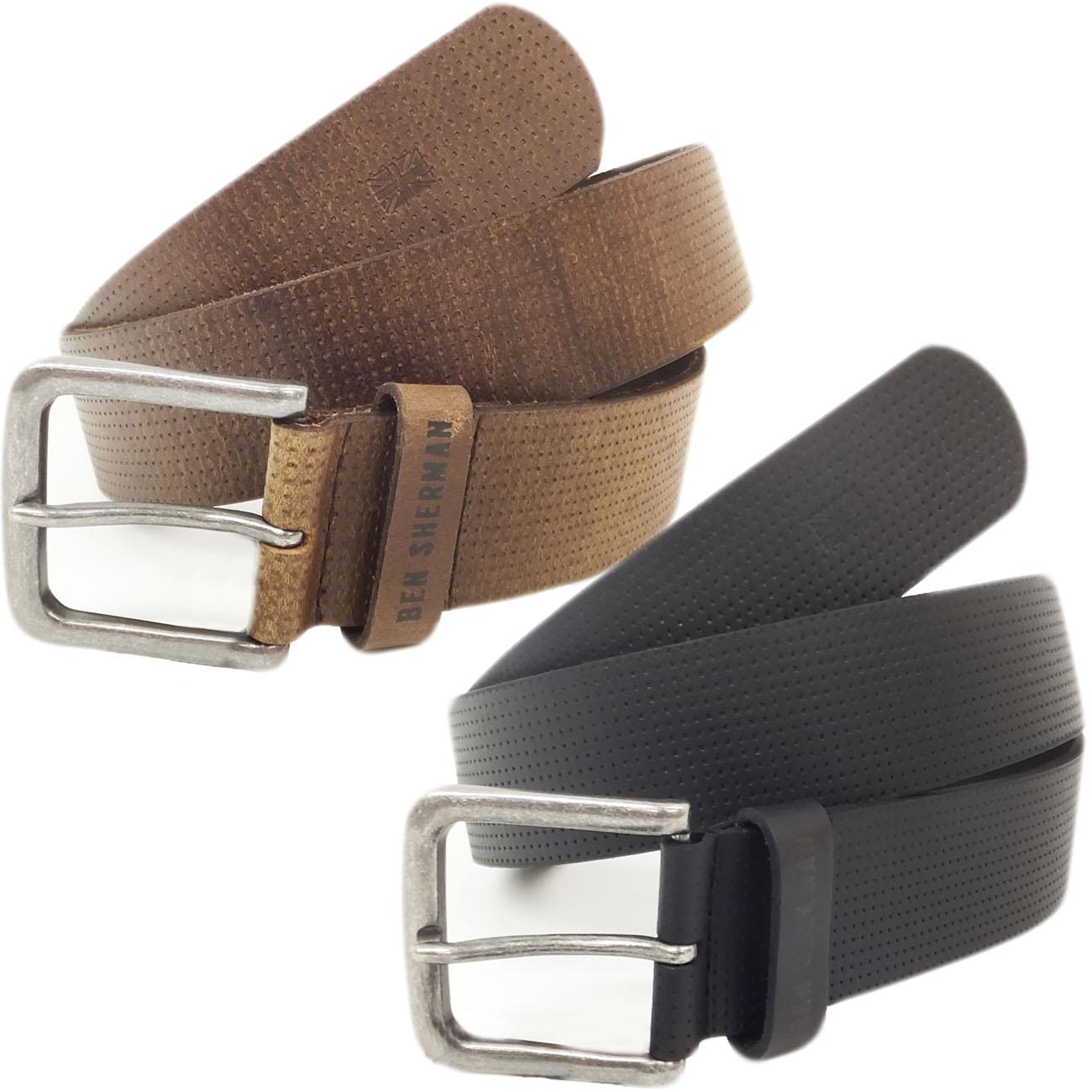 Ben Sherman Dotted Leather Belt