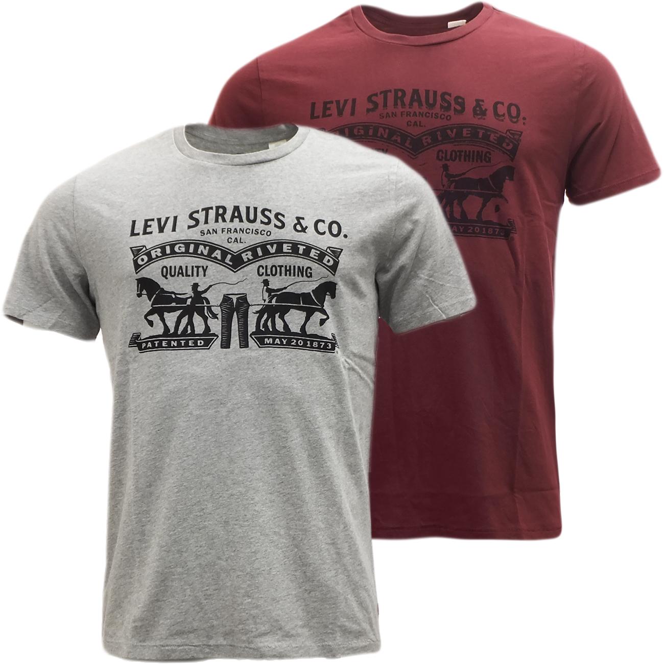 mens levi strauss t shirt original levis logo ebay. Black Bedroom Furniture Sets. Home Design Ideas