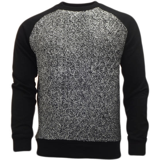 Brave Soul Knitted Jumper with Sweatshirt Back & Arms  'Chopen' Thumbnail 2