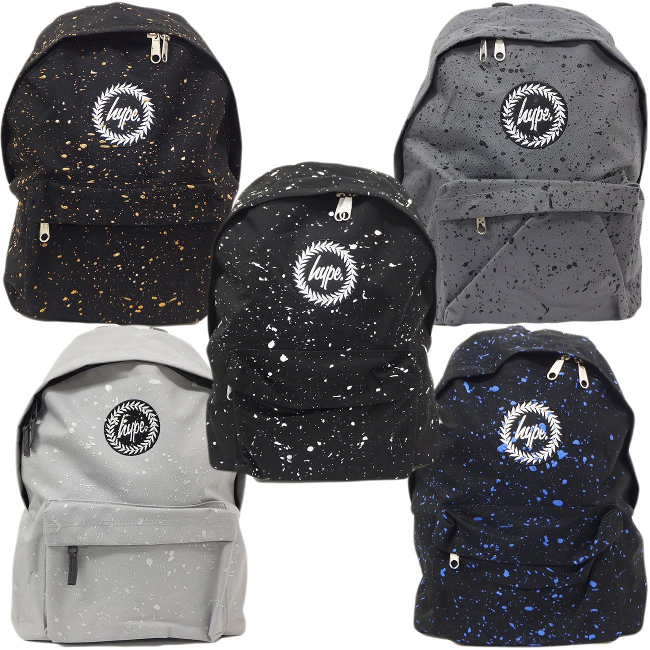 Just Hype Backpack Bag - Paint Splash Design