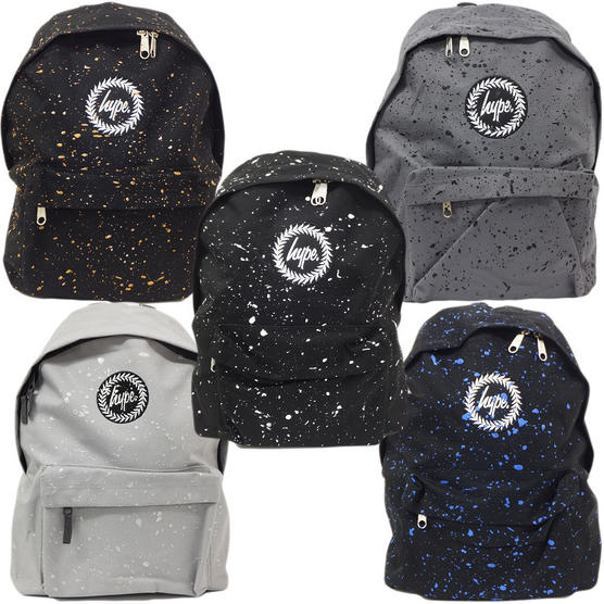 Just Hype Backpack Bag - Paint Splash Design Thumbnail 1