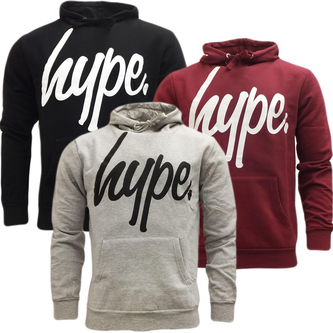 Just Hype Hoodie Sweatshirt Jumper - Script Hype Logo