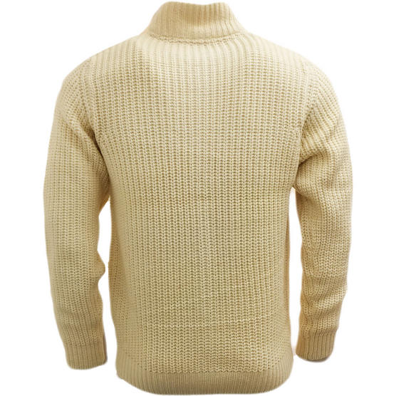 D555 Cable Stitch Knitted Jumper - Winter Knitwear Thumbnail 3
