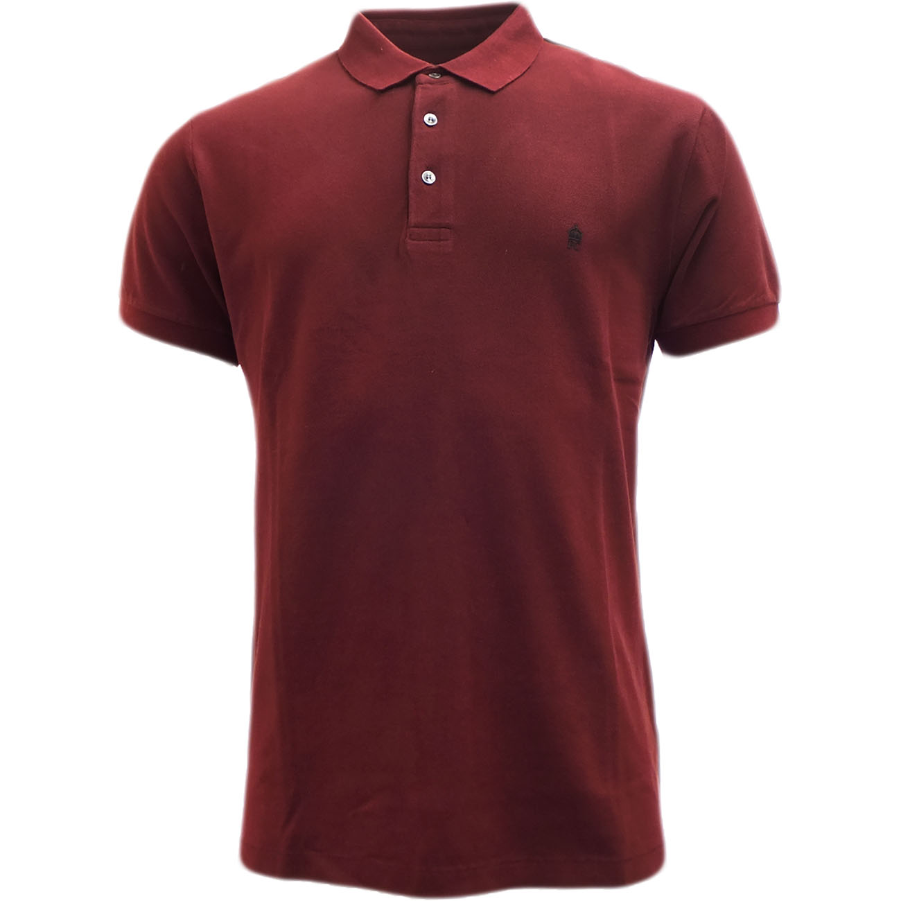 Fcuk Plain Pique Polo Shirt Burgundy