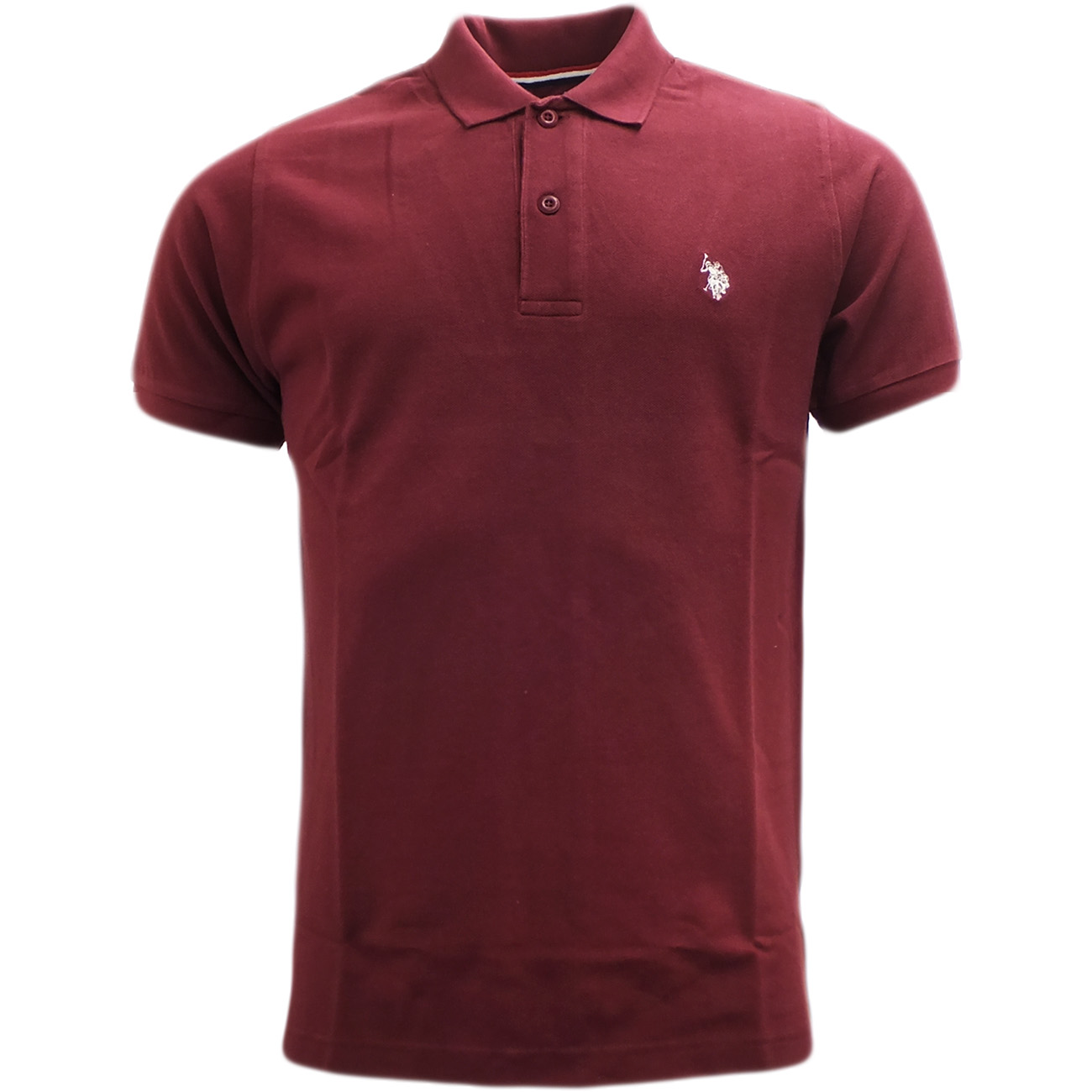 Mens polo shirt u s polo assn plain polos horse logo for Polo shirts with logos
