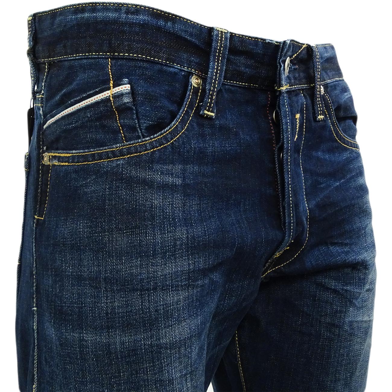 Sentinel Mens Replay Dark Blue Jean - Waitom  Regular Slim Fit Denim Jeans  dad2571878da