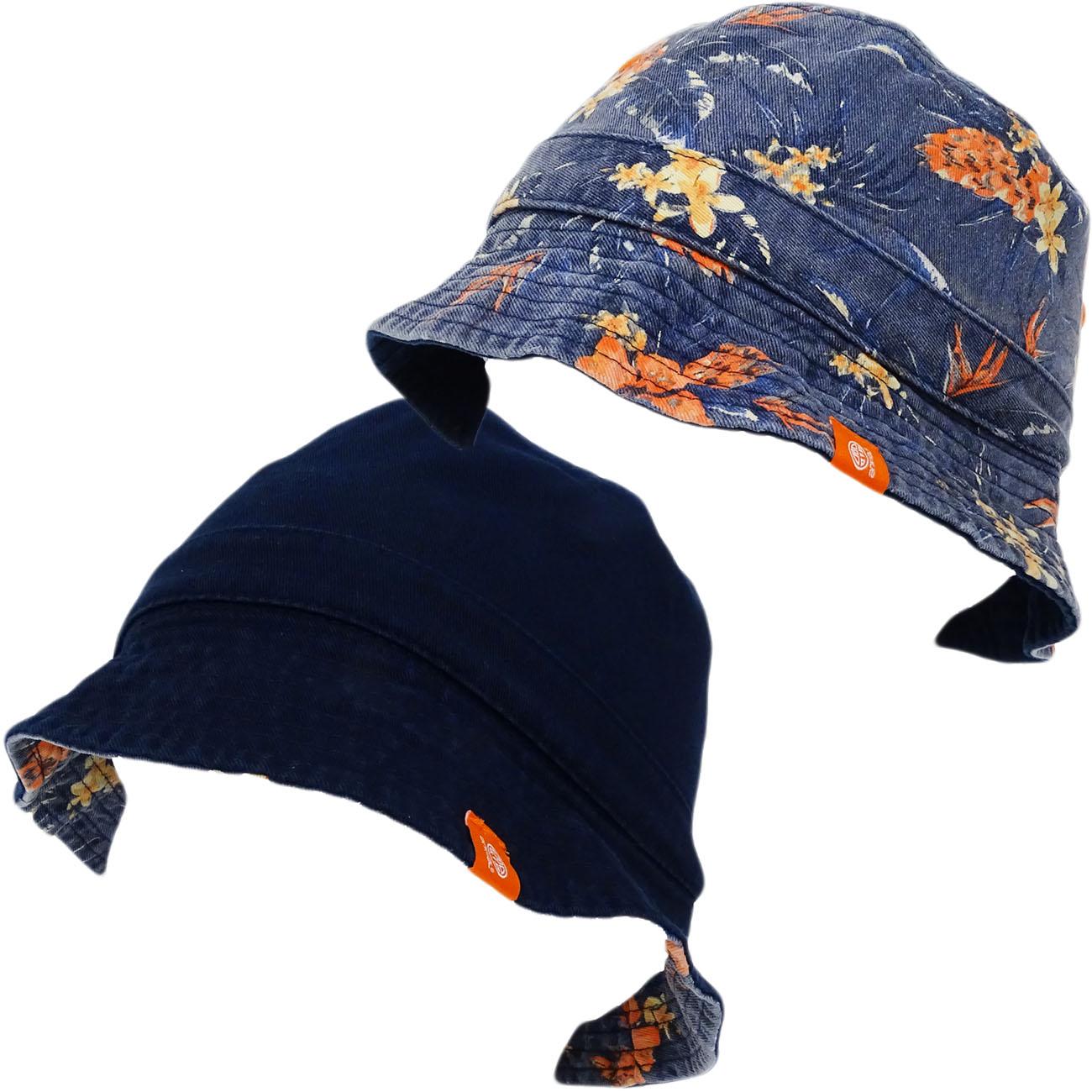 Animal Reversible Bucket Hat - Floral Fisher Cap