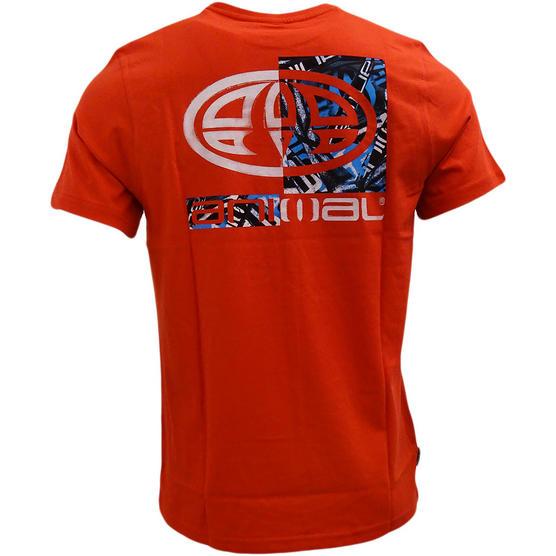 Mens Animal T Shirt with Printed Logo Back - Regular Fit Thumbnail 3