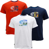 Mens Animal T Shirt with Printed Logo Back - Regular Fit
