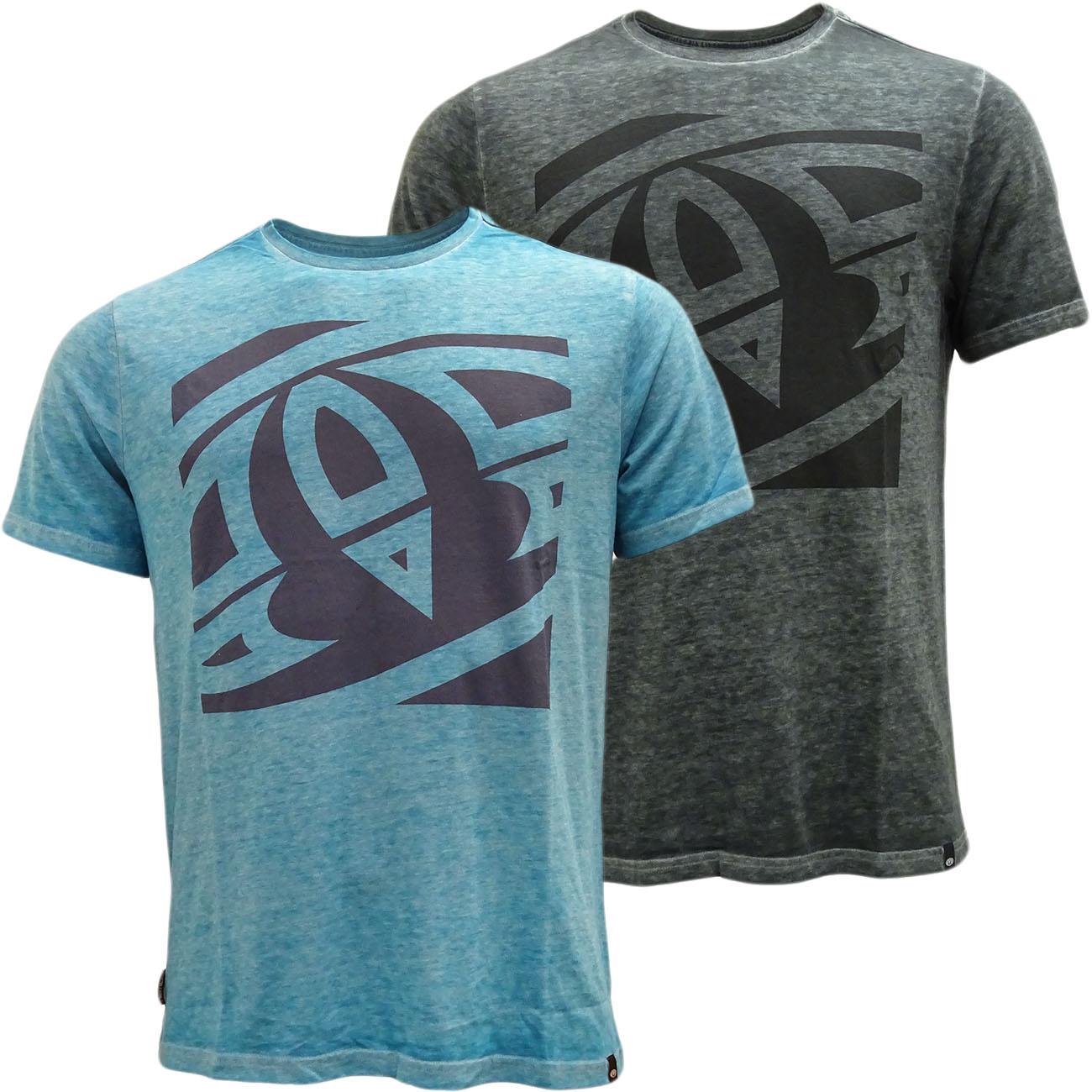 Mens Animal T Shirt Fadded Dye Effect- Regular Fit