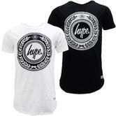 Just Hype Laurel Logo Crest T Shirt
