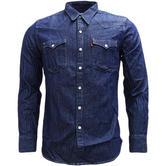 Levi Strauss Plain Long Sleeve Western Denim Shirt