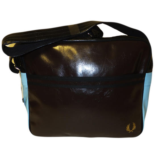 Fred Perry Record Bag Chocolate Thumbnail 1