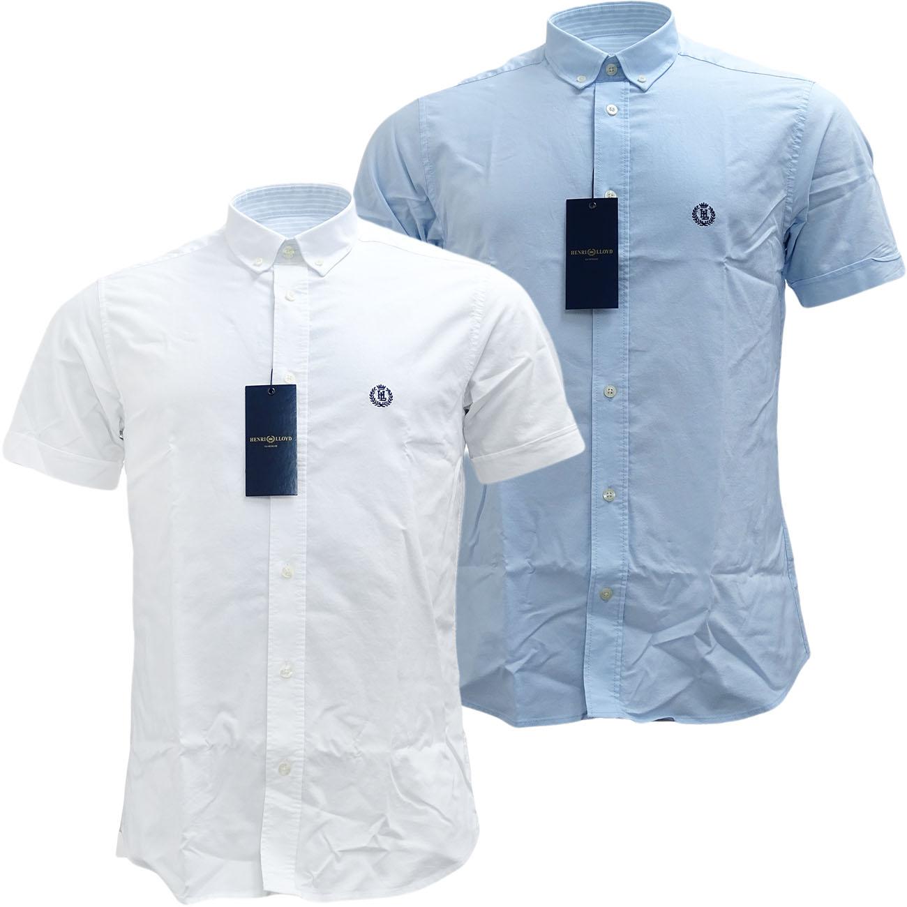 Henri Lloyd Plain Short Sleeve Oxford Shirt