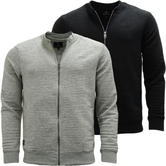 Mens Threadbare Ribbed Full Zip Jumper