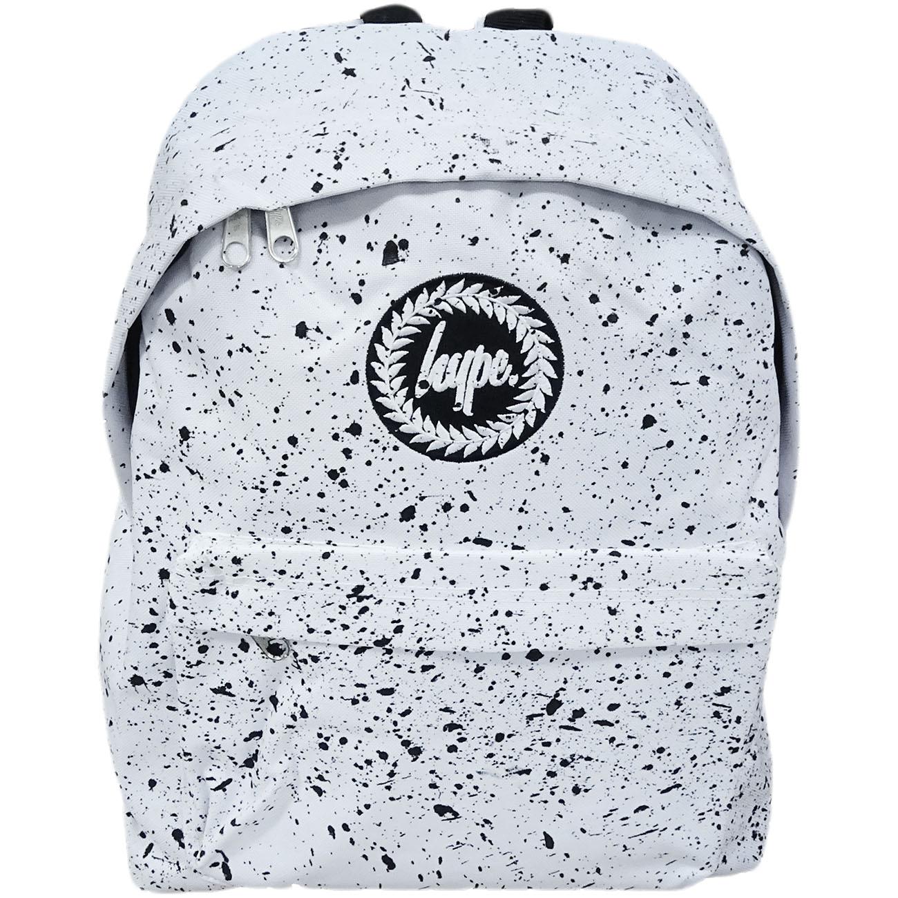 Hype Backpack Bag 'Splatter' White with Black