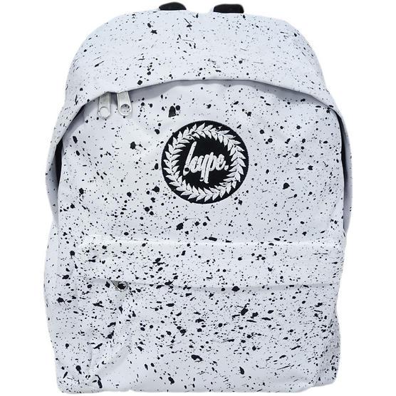 Hype Backpack Bag 'Splatter' White with Black Thumbnail 1